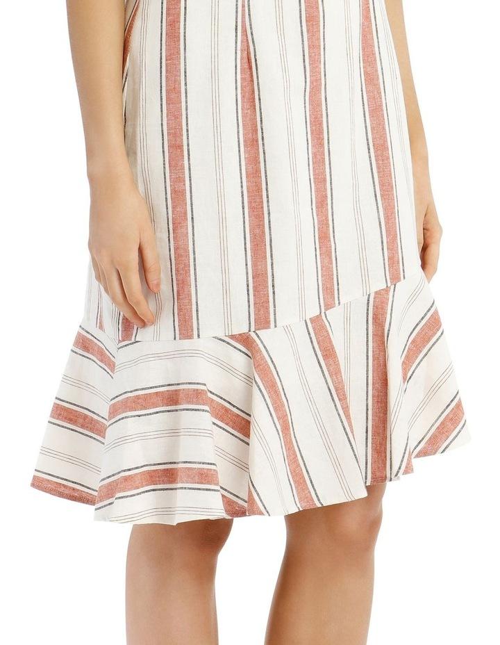 Fluted Hem Dress Yarn Dye image 4