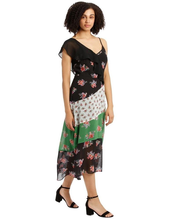 Dress Spliced One Shoulder image 2
