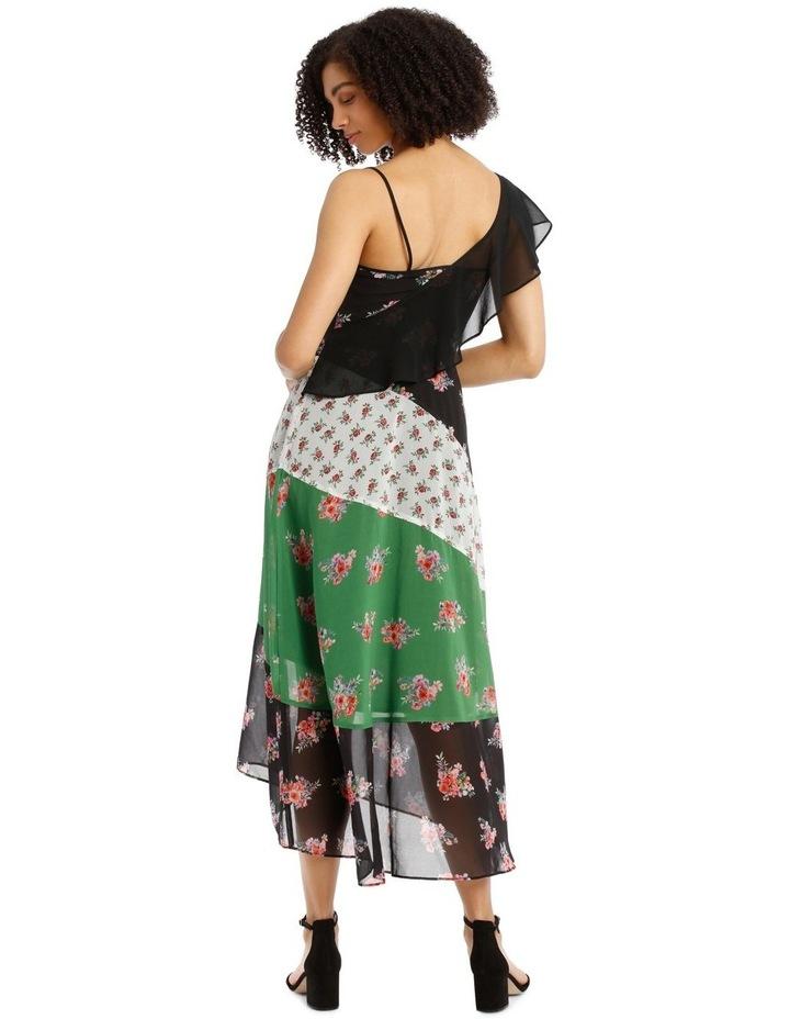 Dress Spliced One Shoulder image 3
