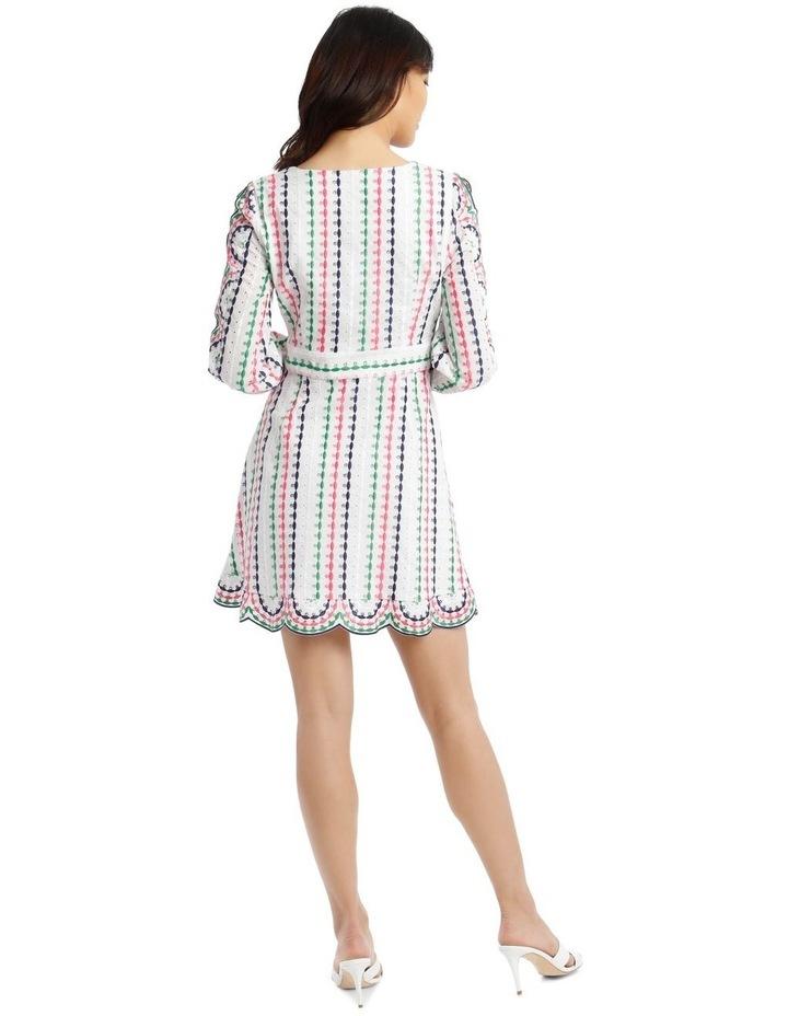 Broderie Short Multi V-Neck Cut Out Sleeve Dress image 3