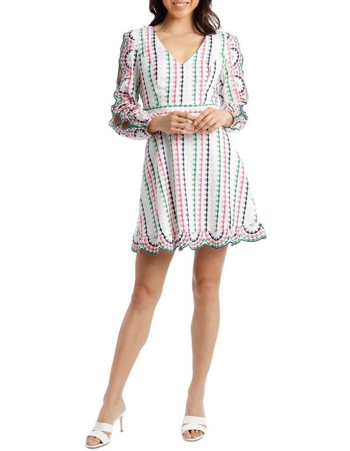 Broderie Short Multi V-Neck Cut Out Sleeve Dress image 5