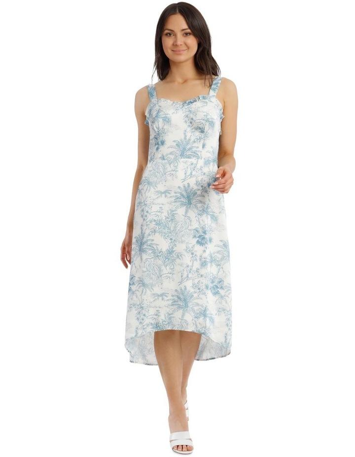 Toile De Jour Print Slip Dress image 1