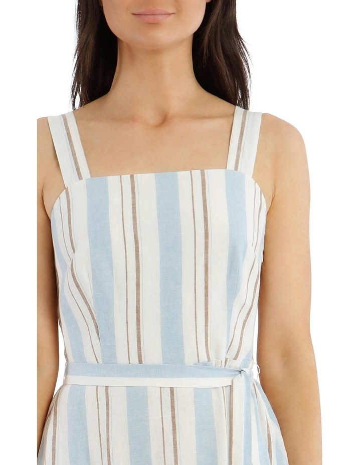 Stripe Linen Cotton Dress image 4