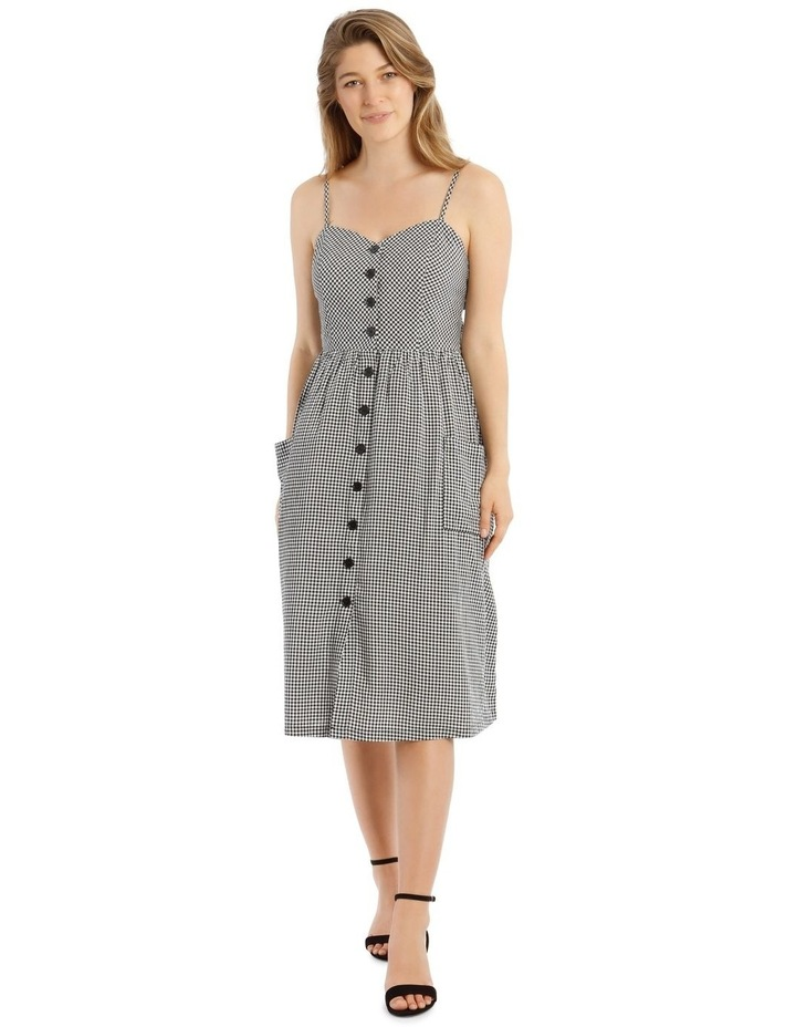 Check Button Through Dress image 1