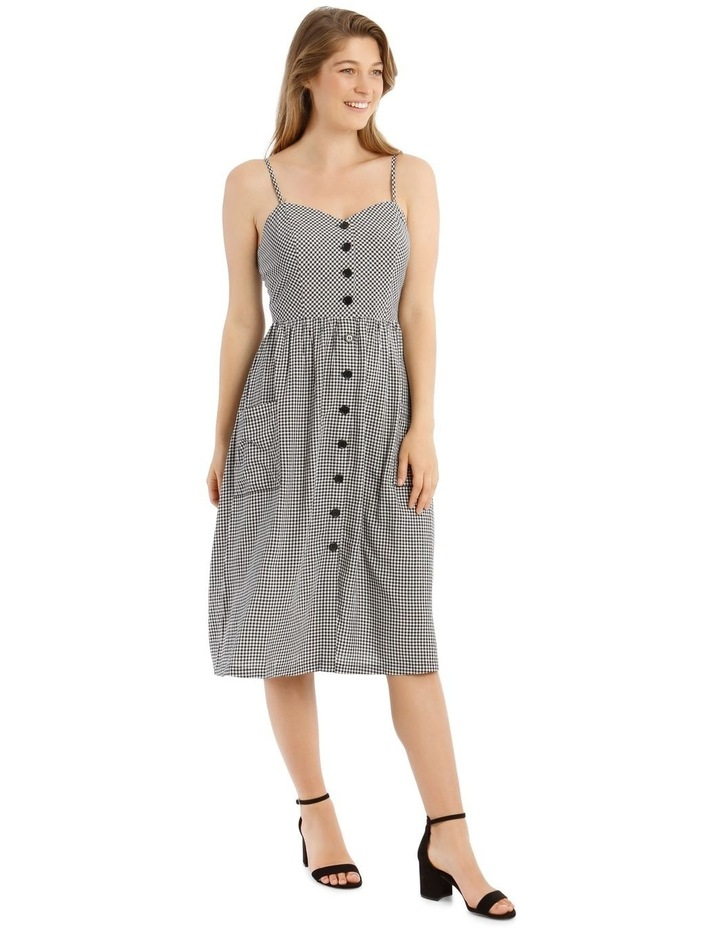 Check Button Through Dress image 2