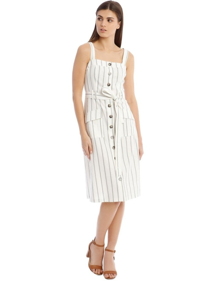 Utility Striped Dress with Pockets image 1