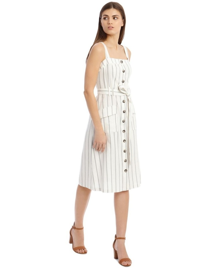 Utility Striped Dress with Pockets image 2