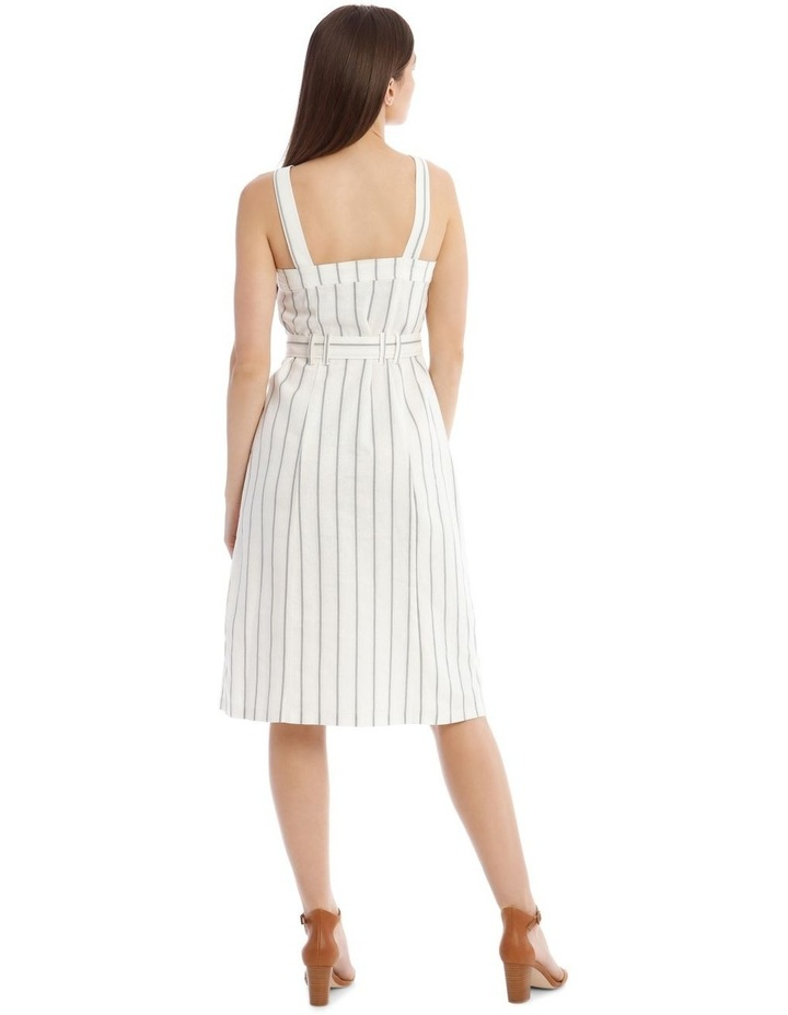 Utility Striped Dress with Pockets image 3