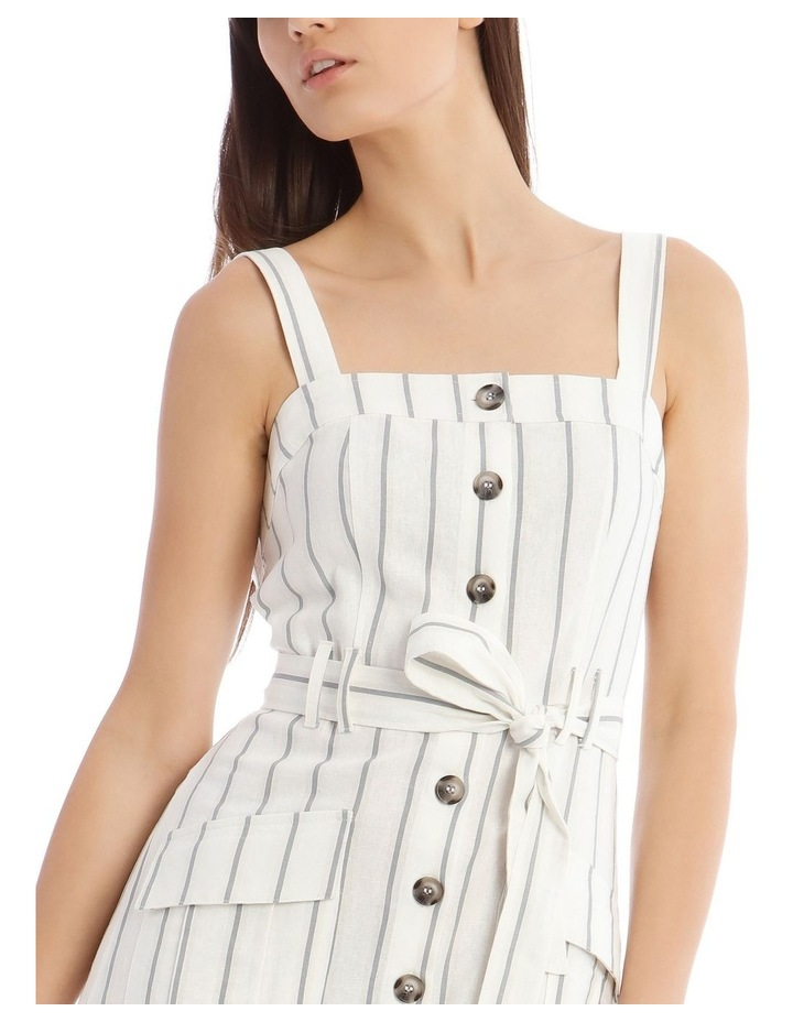 Utility Striped Dress with Pockets image 4