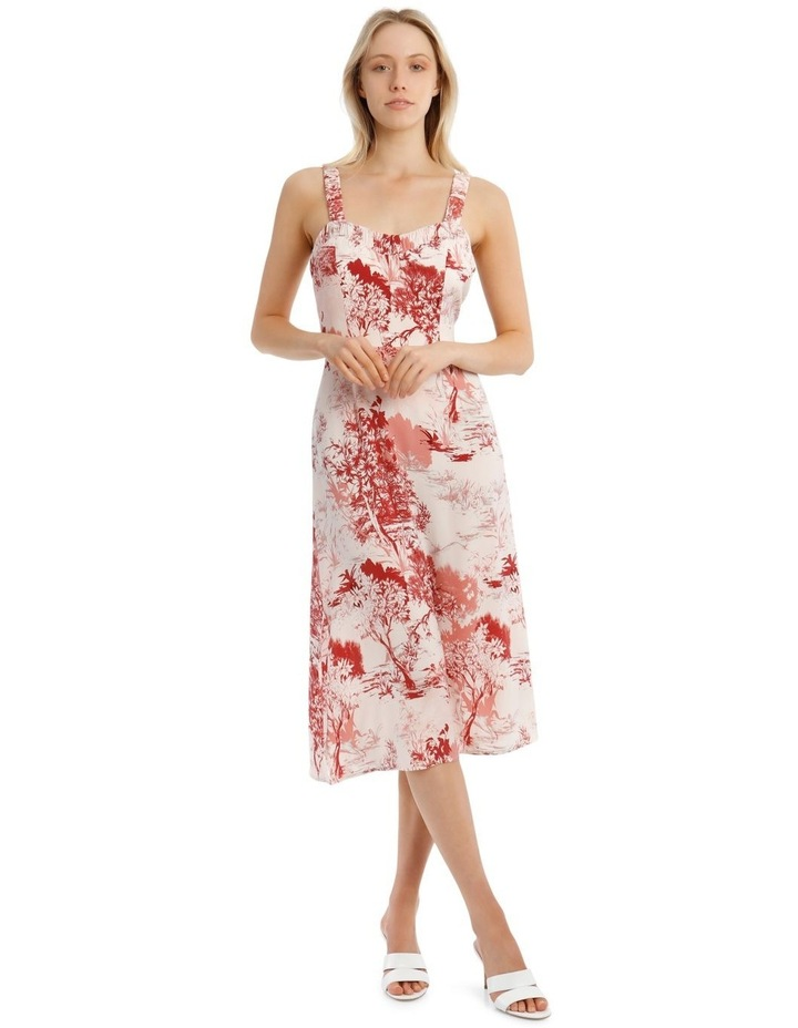 Printed Dress with Straps image 1