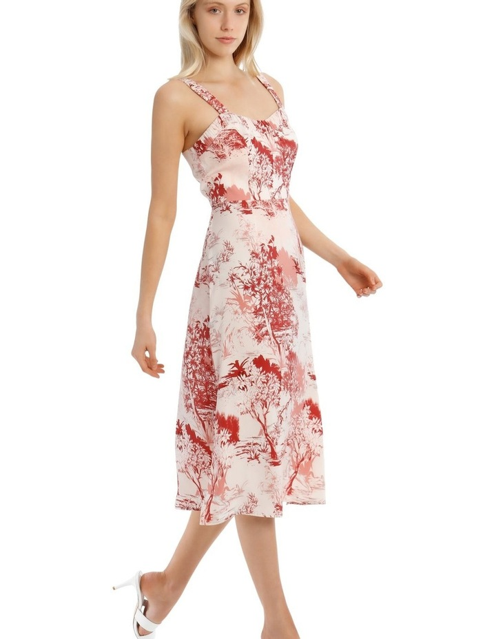 Printed Dress with Straps image 2