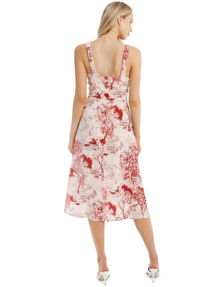 Printed Dress with Straps image 3