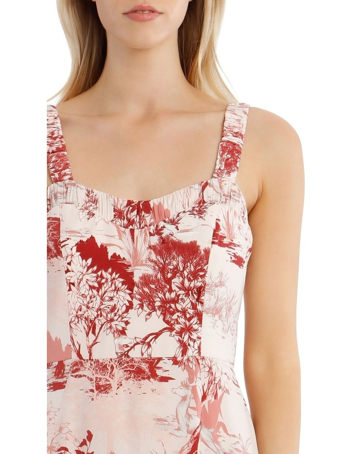 Printed Dress with Straps image 4