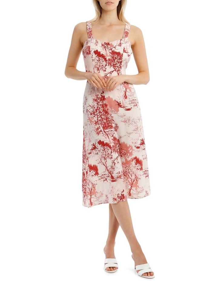 Printed Dress with Straps image 5