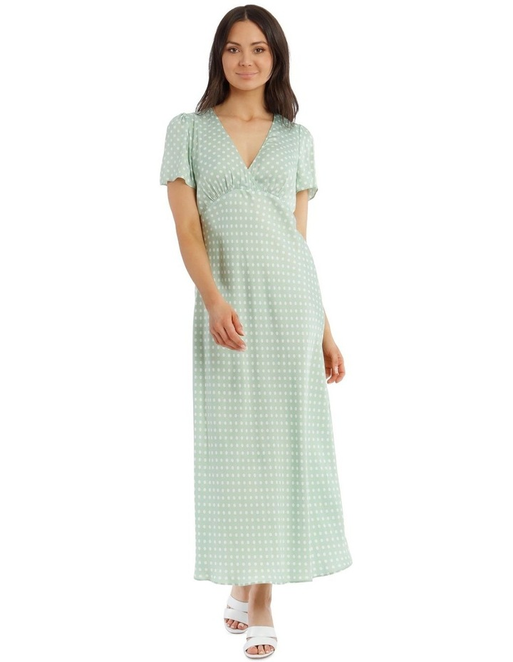 Spotted Cap Sleeve Dress image 1