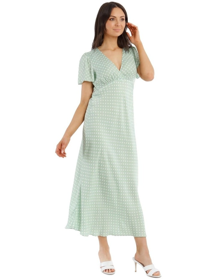 Spotted Cap Sleeve Dress image 2