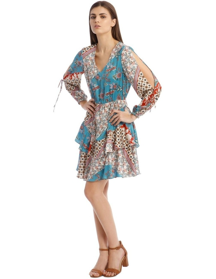 Patchwork Dress with Open Sleeve image 2
