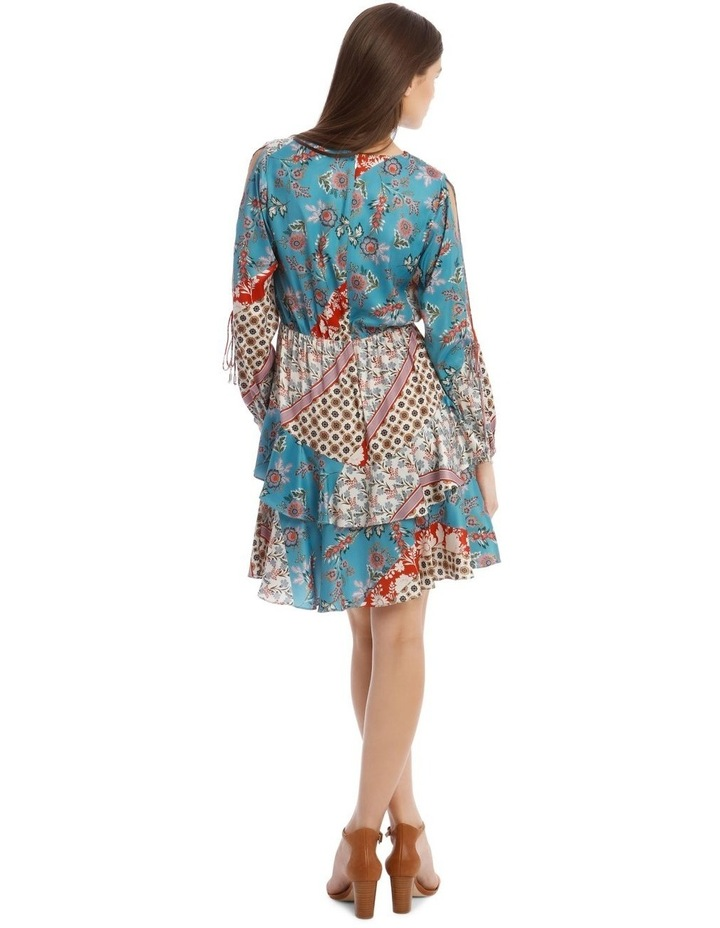 Patchwork Dress with Open Sleeve image 3