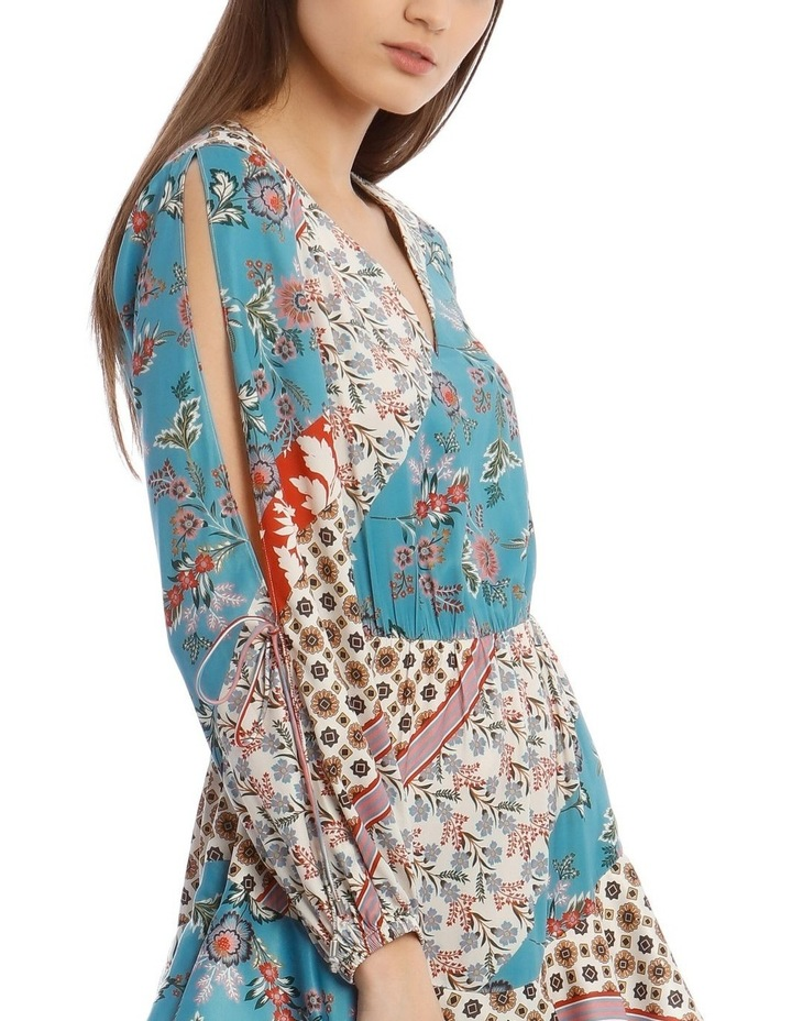 Patchwork Dress with Open Sleeve image 4