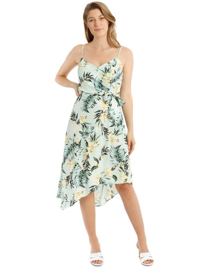 Tropical Tie Detail Palm Dress image 1