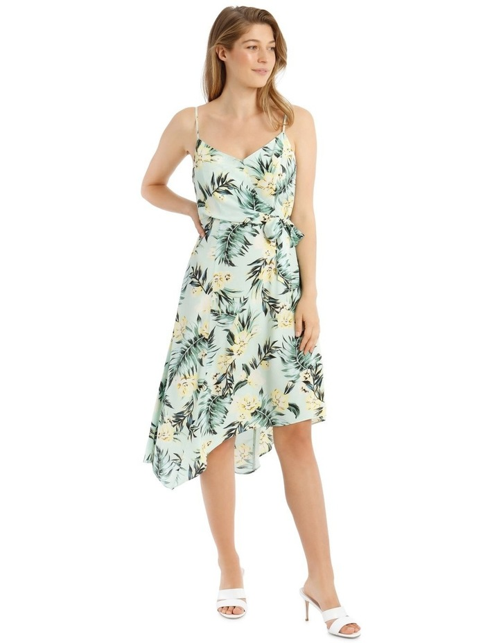 Tropical Tie Detail Palm Dress image 2