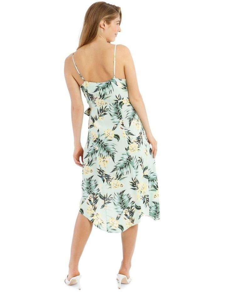 Tropical Tie Detail Palm Dress image 3