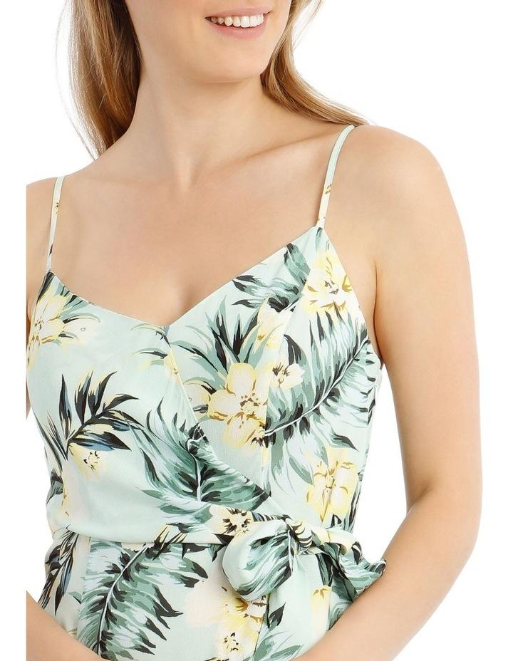 Tropical Tie Detail Palm Dress image 4