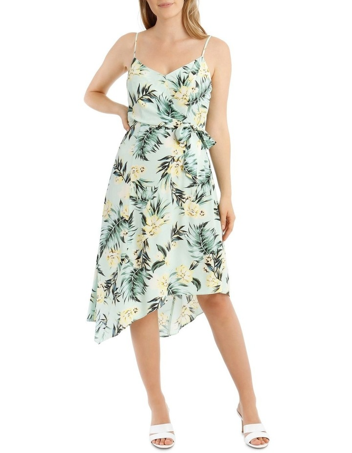 Tropical Tie Detail Palm Dress image 5
