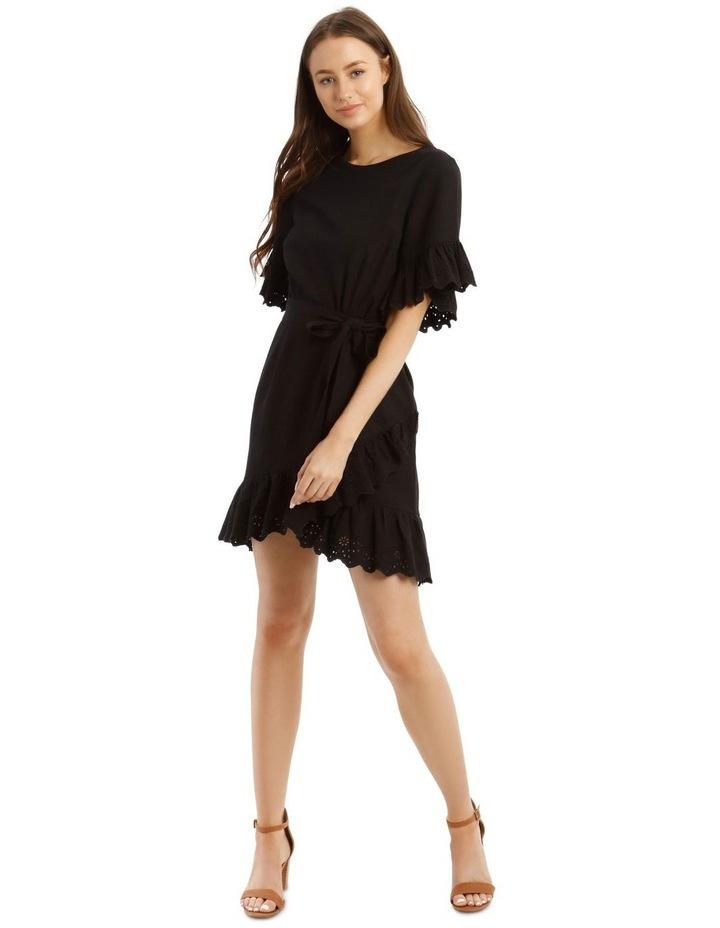 Broderie Ruffled Sleeve Dress image 1