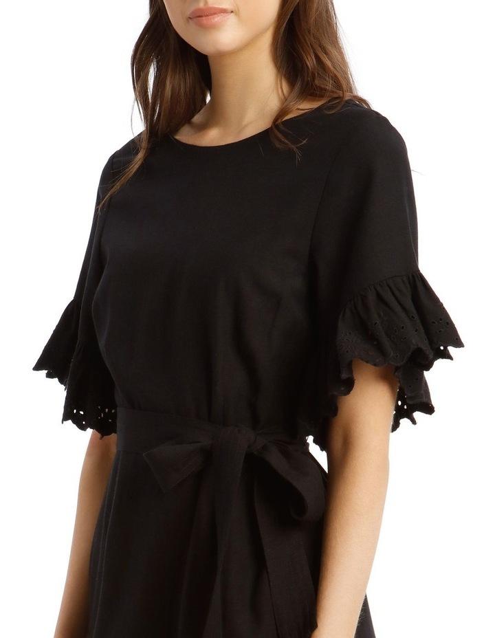 Broderie Ruffled Sleeve Dress image 4