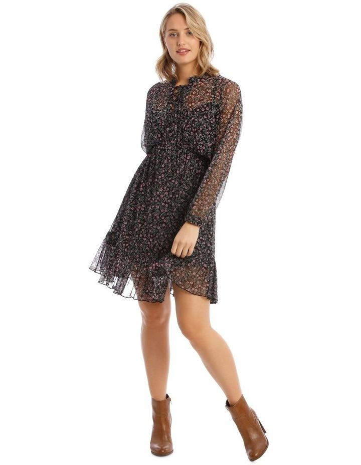 Ditzy Printed Mesh Dress image 1