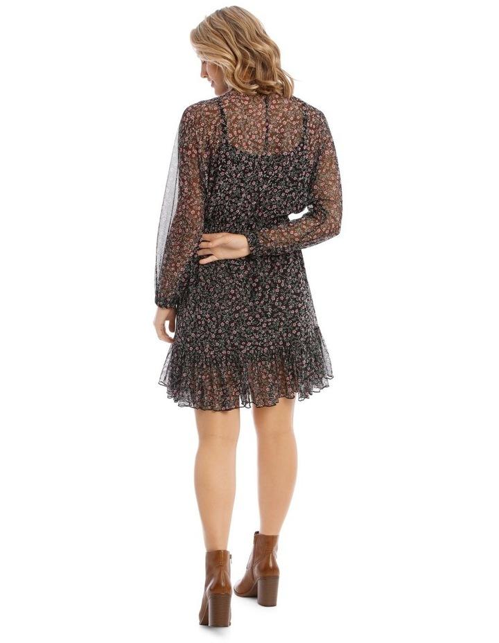 Ditzy Printed Mesh Dress image 3