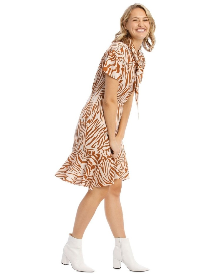 Tie-Neck Short Dress image 2