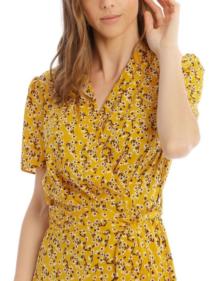 Belted Vee Neck Dress image 4