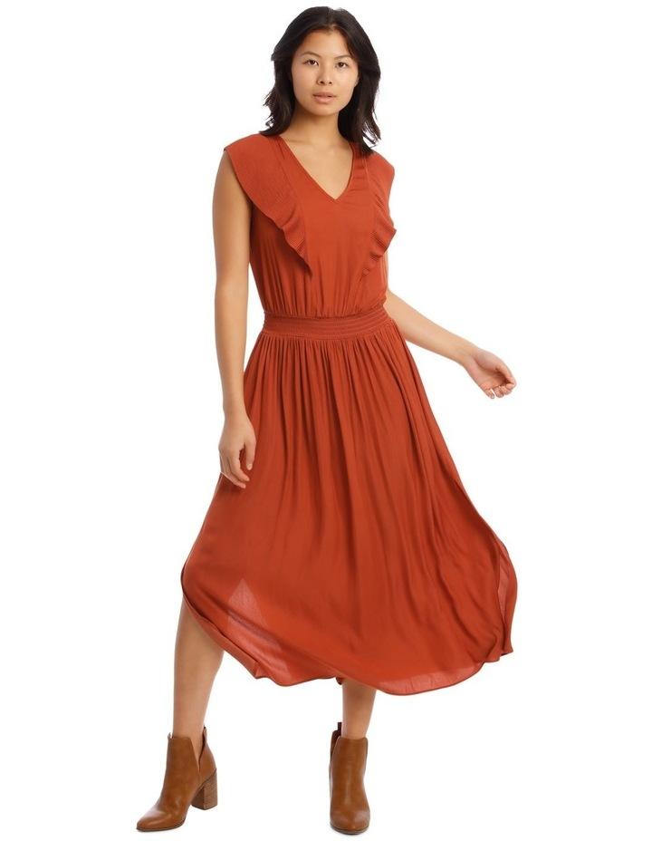 Ruffled Vee Neck Dress image 1