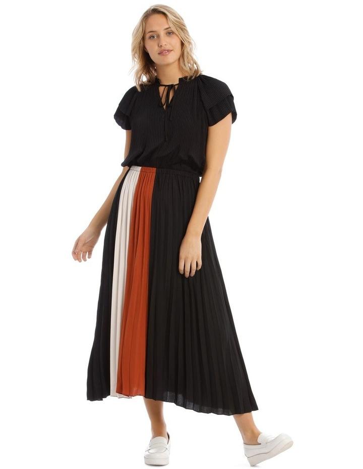 Spliced Short Sleeve Dress image 1