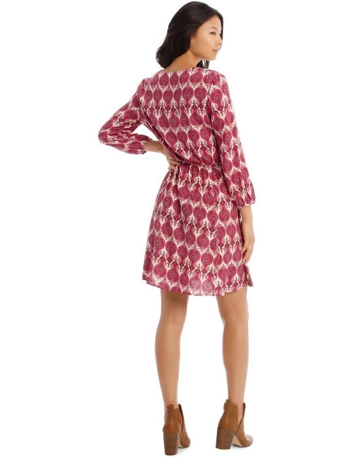 Vee Neck Fit Flare Dress image 3