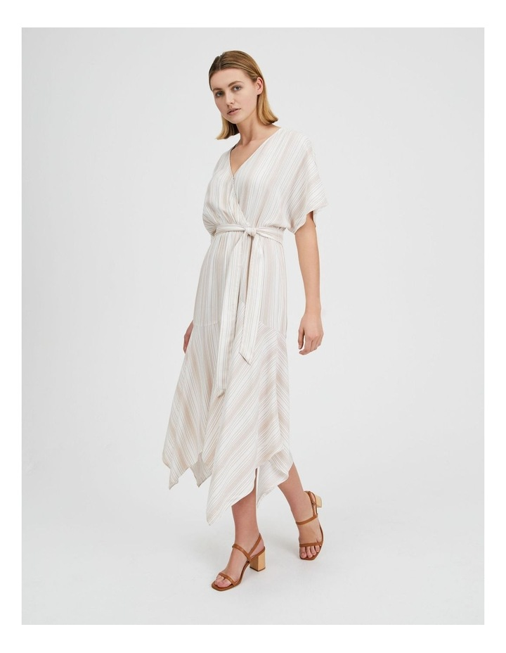 Asymmetric Midi Wrap Dress image 2