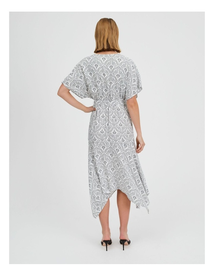 Asymmetric Midi Wrap Dress image 3