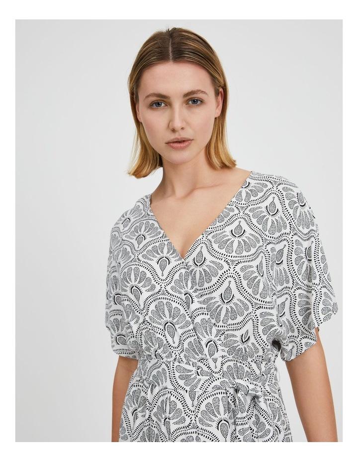 Asymmetric Midi Wrap Dress image 5