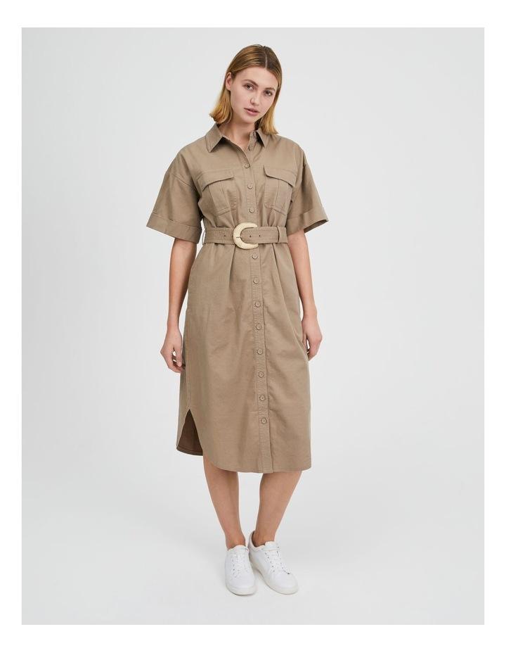 Belted Utility Shirt Dress image 1