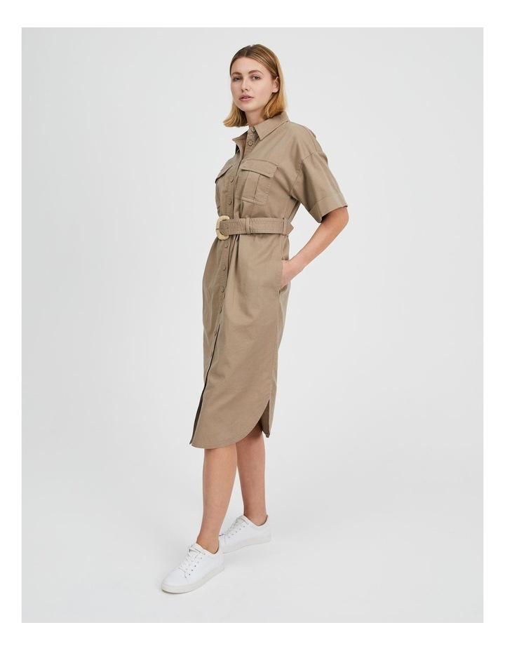 Belted Utility Shirt Dress image 2