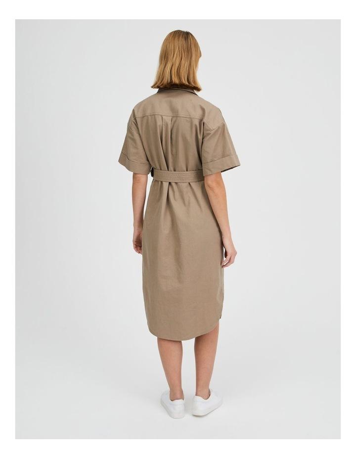 Belted Utility Shirt Dress image 3