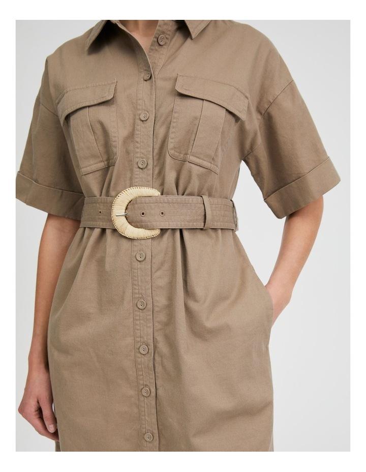Belted Utility Shirt Dress image 4