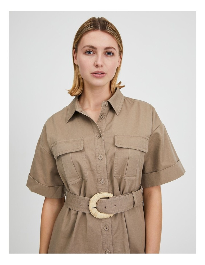 Belted Utility Shirt Dress image 5