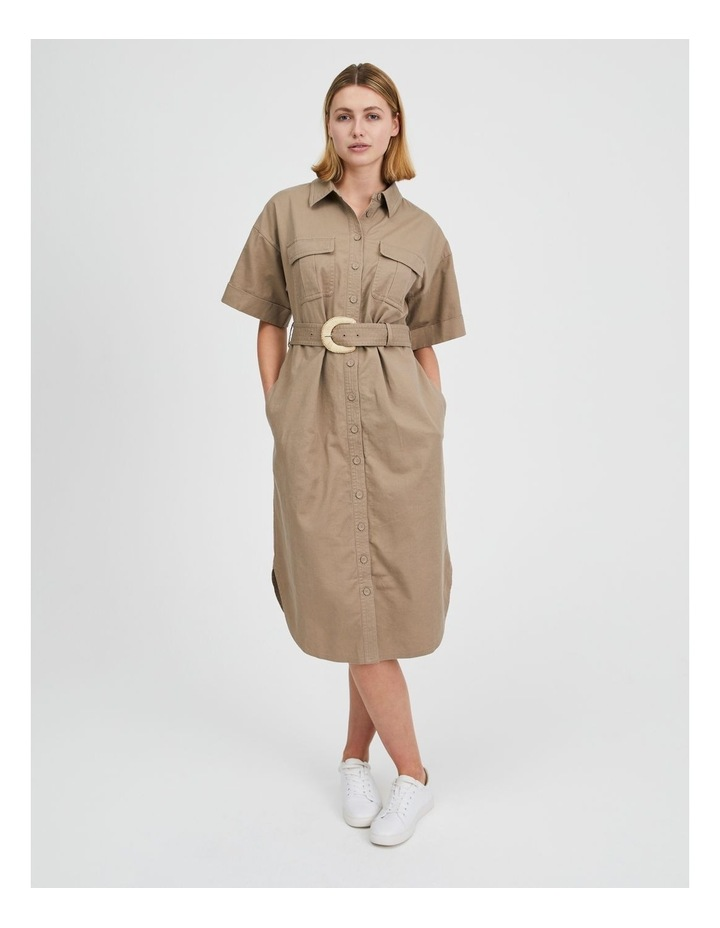 Belted Utility Shirt Dress image 6