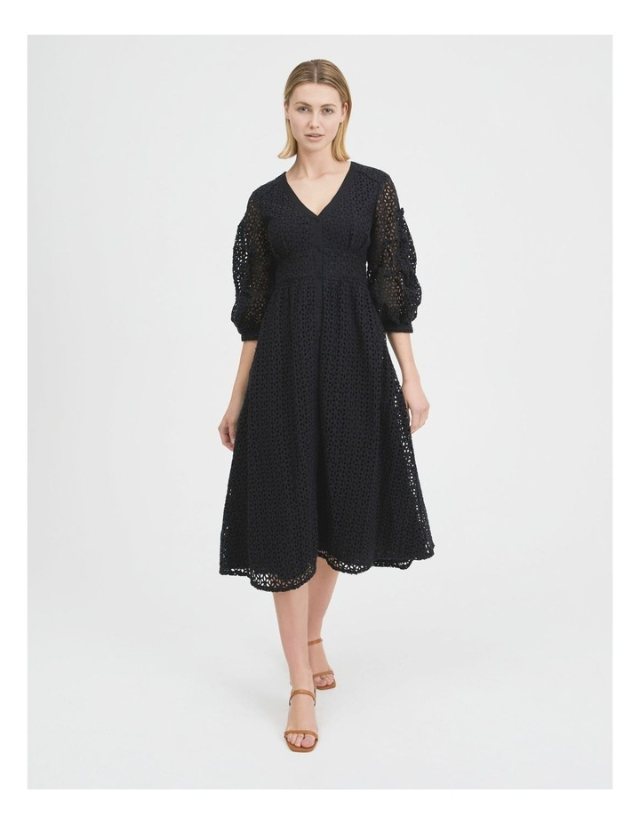 Puff Sleeve Broderie Dress image 1