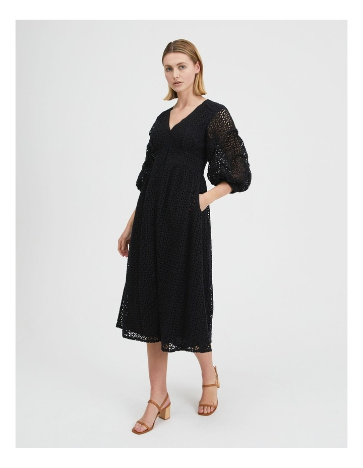 Puff Sleeve Broderie Dress image 2