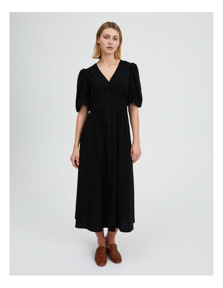 Puff Sleeve Button Through Dress image 1