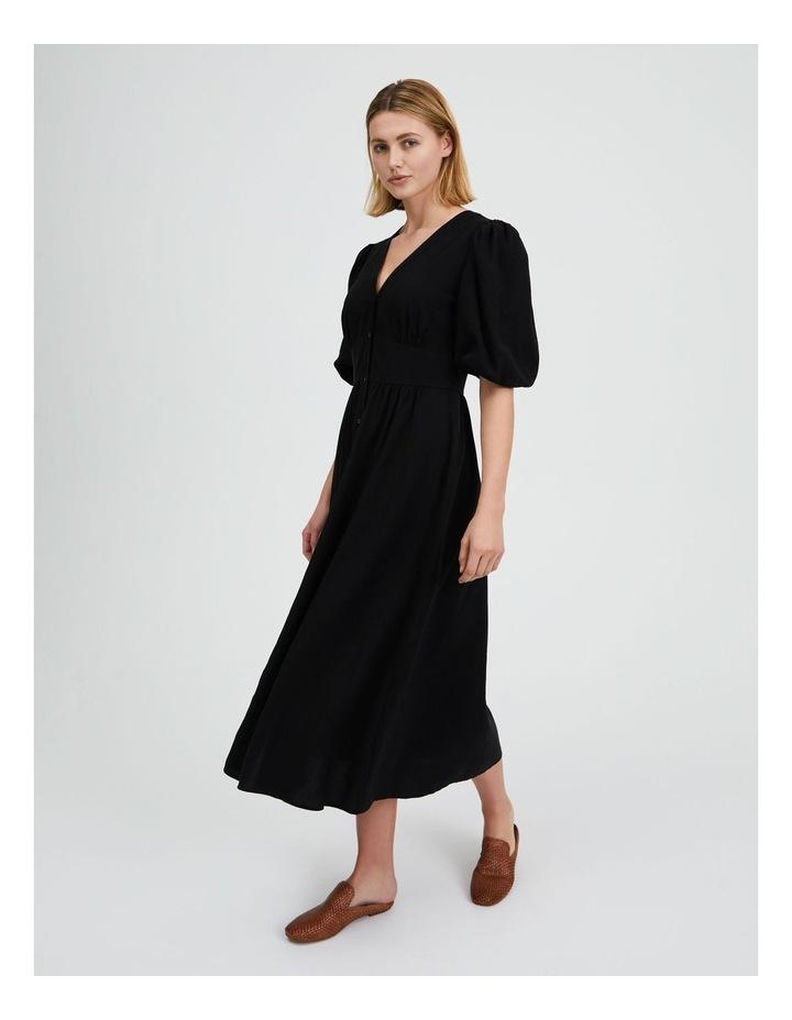 Puff Sleeve Button Through Dress image 2